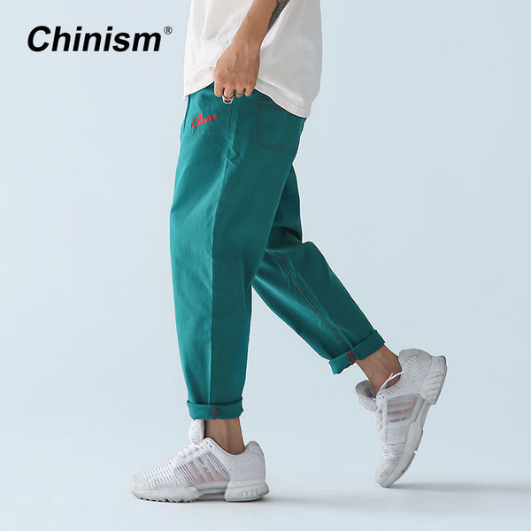 Turquoise Embroidered Trousers