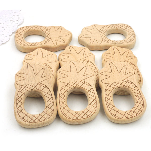 Pineapple Beech Wood Baby Teething Toy
