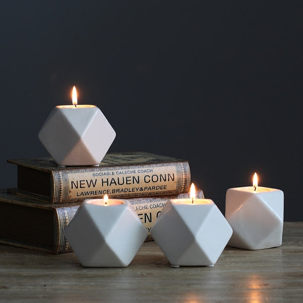 Ceramic Poly Tealight Candle Holders