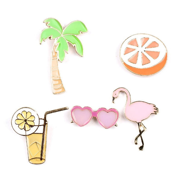 Tropical Summer Brooches