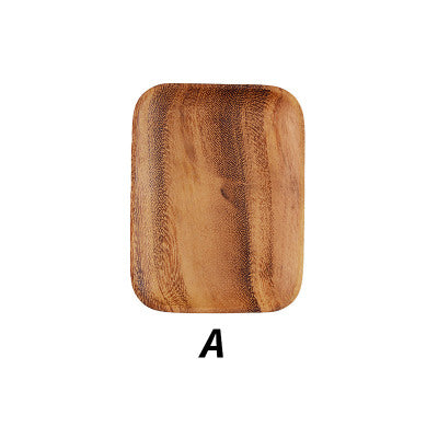 Square Acacia Wood Serving Plate