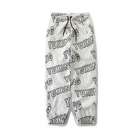 Text Print Sweat Pants