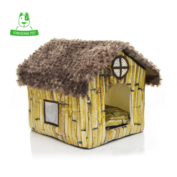 Small Plush Indoor Dog House