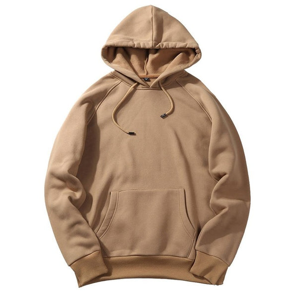 Block Color Plain Hoodie