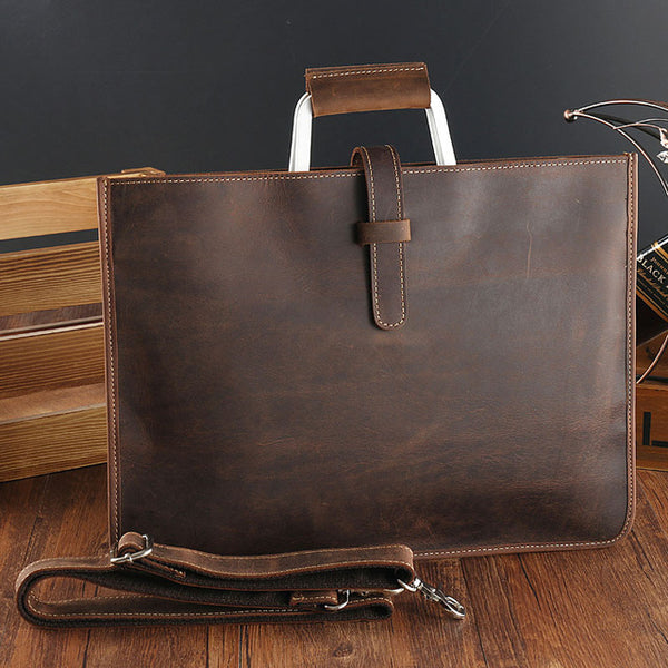 Genuine Leather Slim Briefcase
