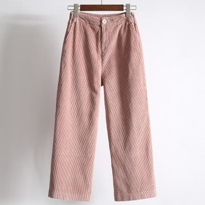 Pink High Waisted Cords
