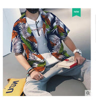 Tropical Print Revere Mens Shirt