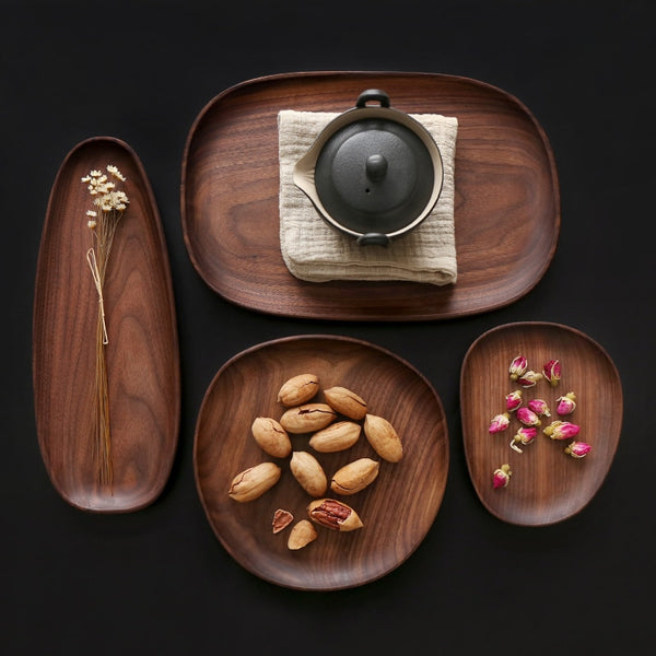 Walnut Serving Plates