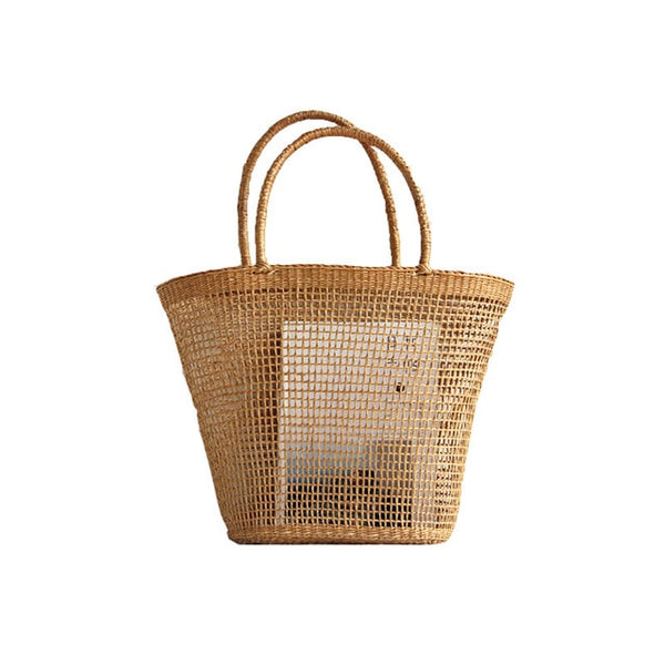 Straw Weave Bucket Bag