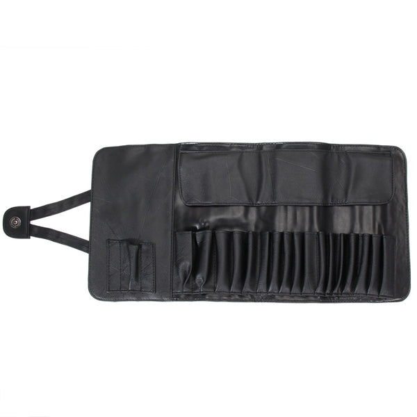 Leather Roll Up Makeup Bag