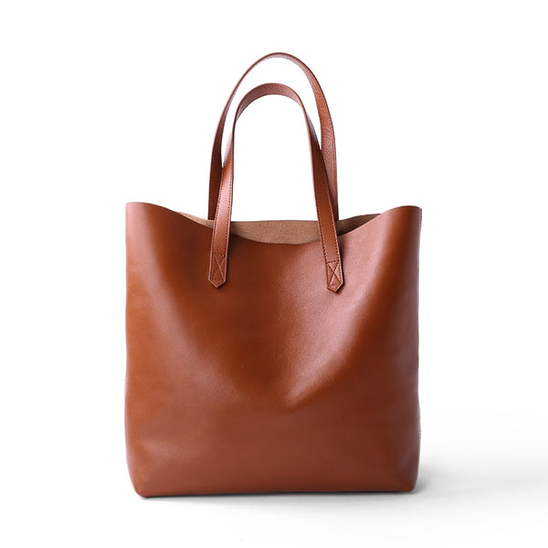 Genuine Leather Classic Tote