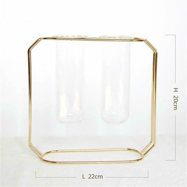 Modern hanging glass vase