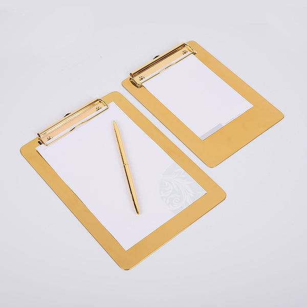 Polished Gold Clip Board