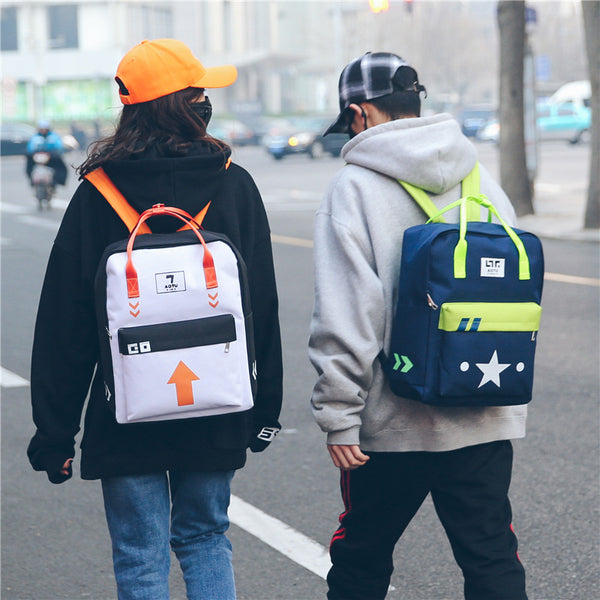 Canvas Color Shapes Square Backpack