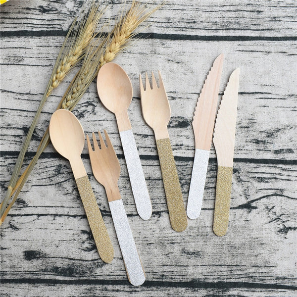 Glitter Handle Disposable Cutlery
