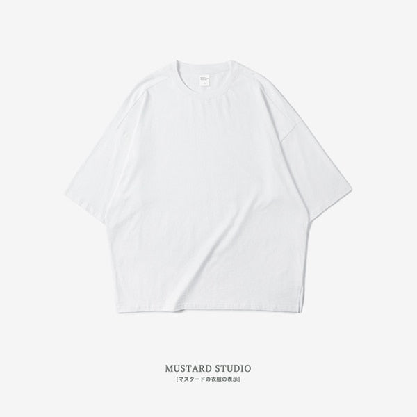 Oversize Batwing Plain Color Tee