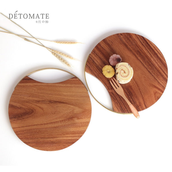 Round Wood Chopping Board