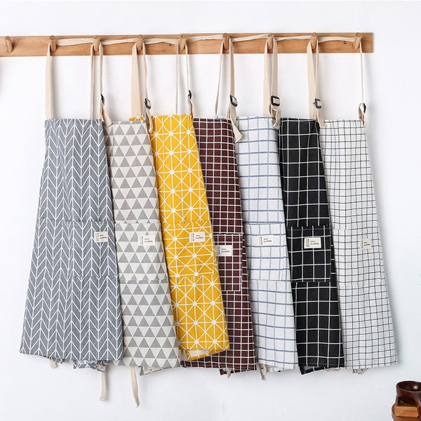Geometric Pattern Cooking Apron