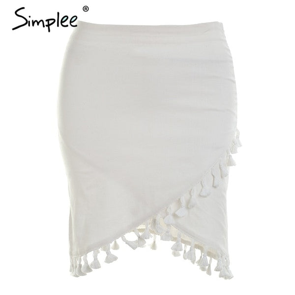 Tassel Trim Skirt