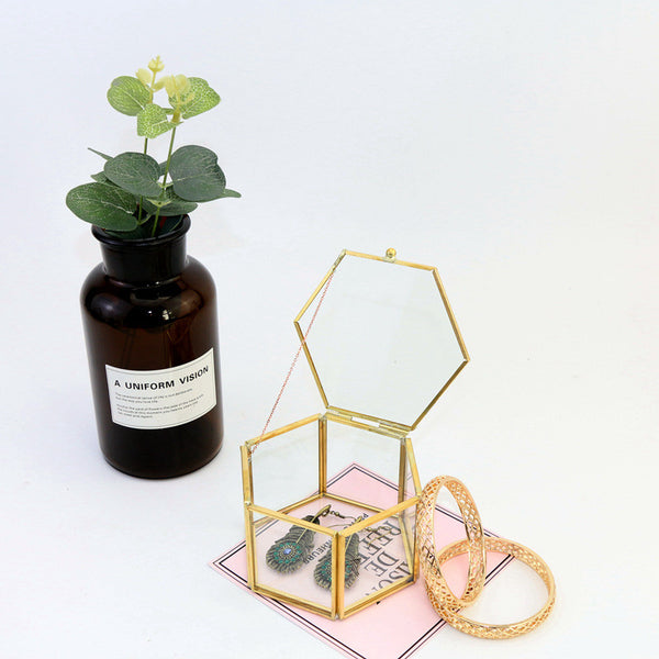 Geometrical Clear Jewelry Box
