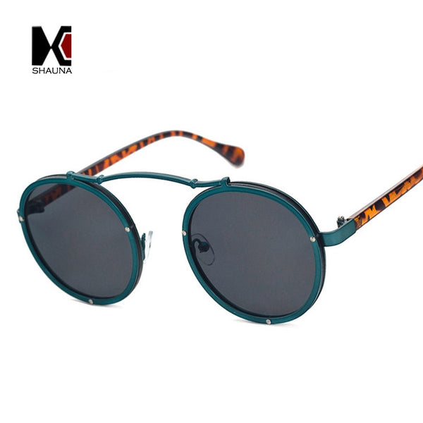 Vintage Round Two Tone Sunglasses