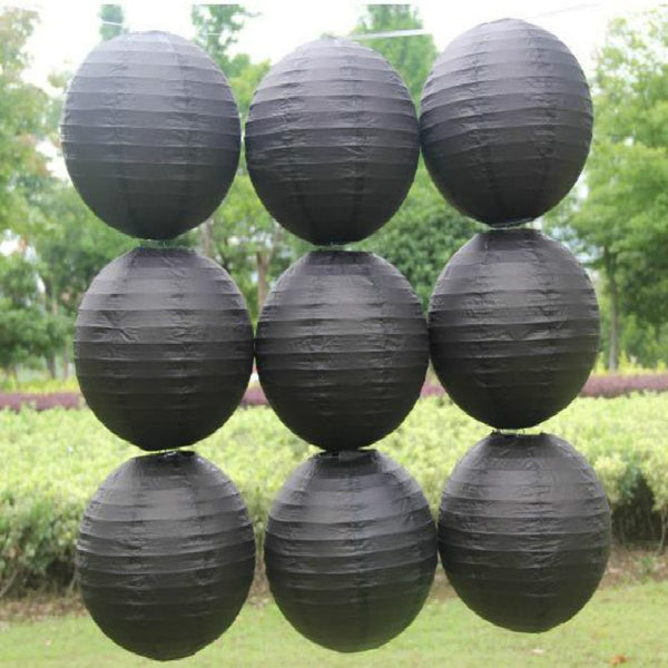 Black Paper Decoration Lantern Shade