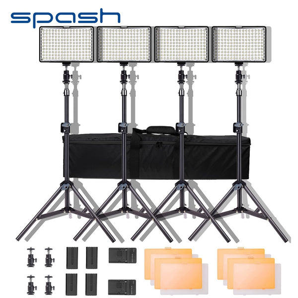 4pc LED Video Light Set