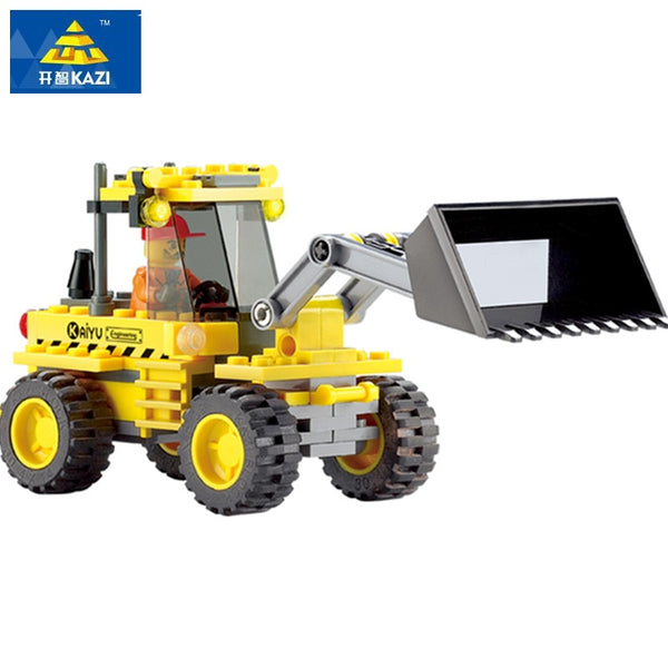 Bulldozer Brick Toy Set