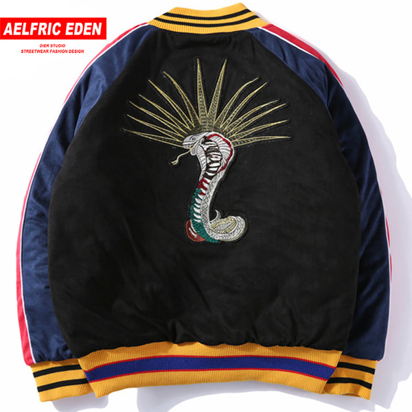 Embroidered Colorful Bomber Jacket