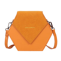 Hexagonal Suede Shoulder Bag