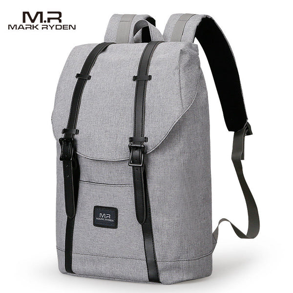 Grey Laptop Strap Backpack