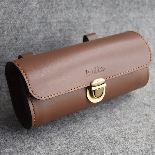 Vintage PU Leather Bicycle Tail Bag