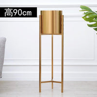 Polished Gold Plant Stand