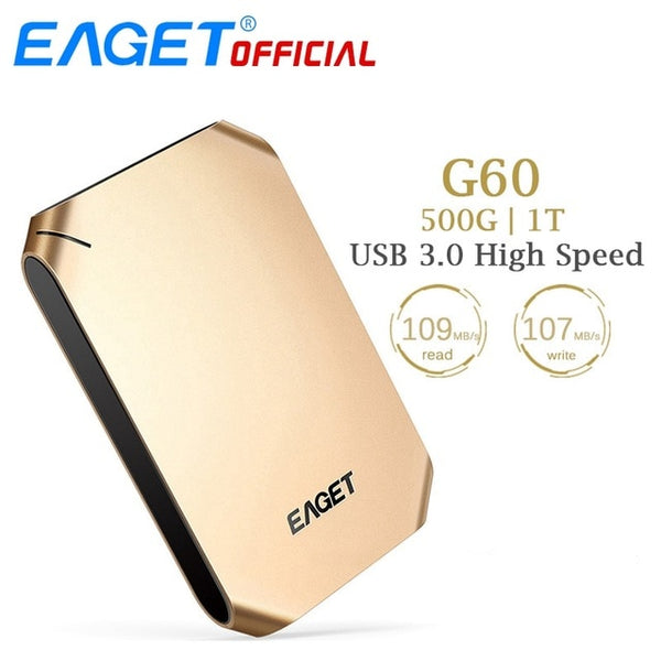 Matte Gold External Hard Drive