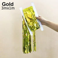 Gold Tinsel Party Backdrop