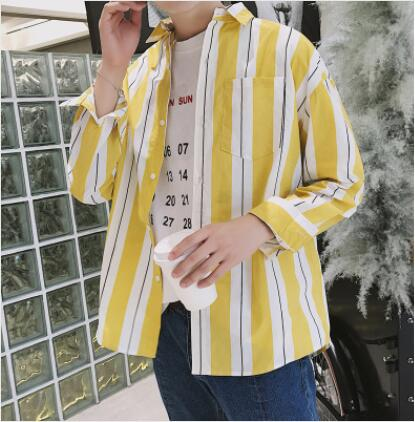 Loose Oversize Wide Stripe Button Shirt