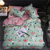 Tropical Print Linen Set