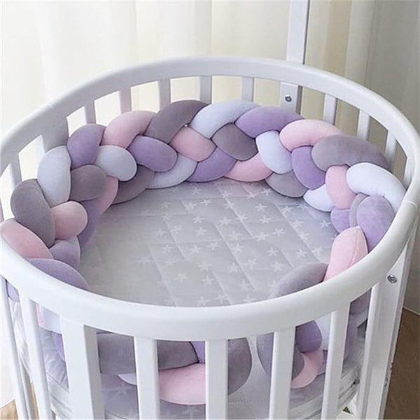 Plush Knotted Baby Crib Bumper Pillow