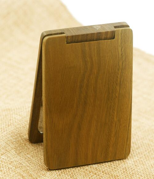 Folding Bamboo Pocket Mirror