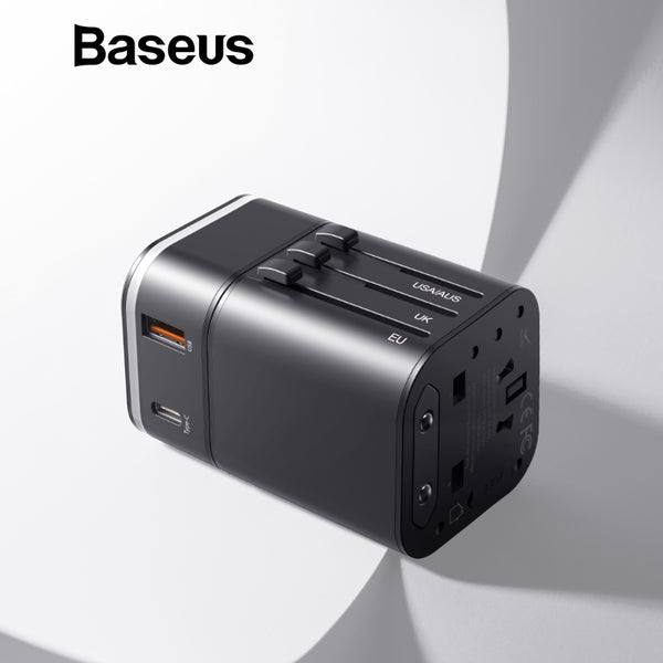 Travel Adapter with Detachable USB Plug