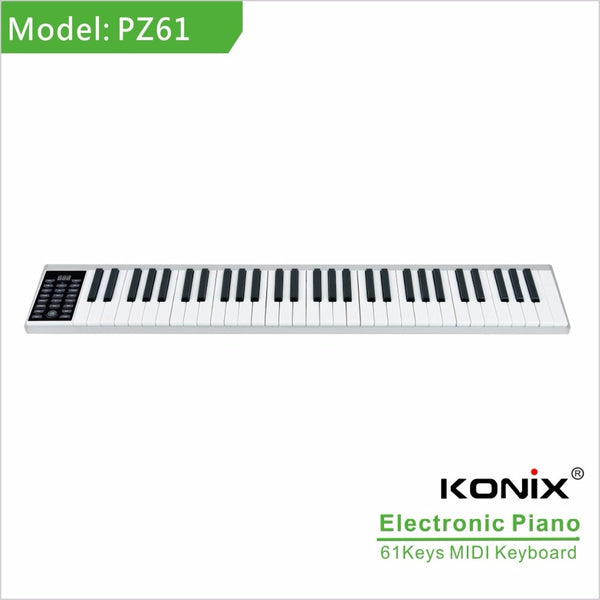 Slim USB 61 key Midi Keyboard