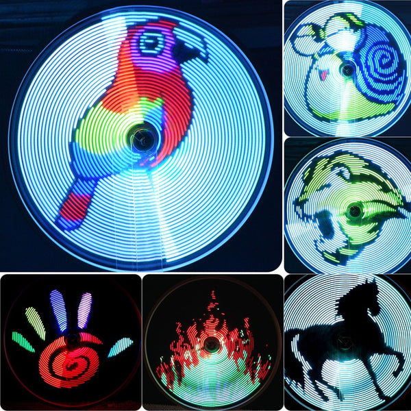 LED Animation on bicycle wheels