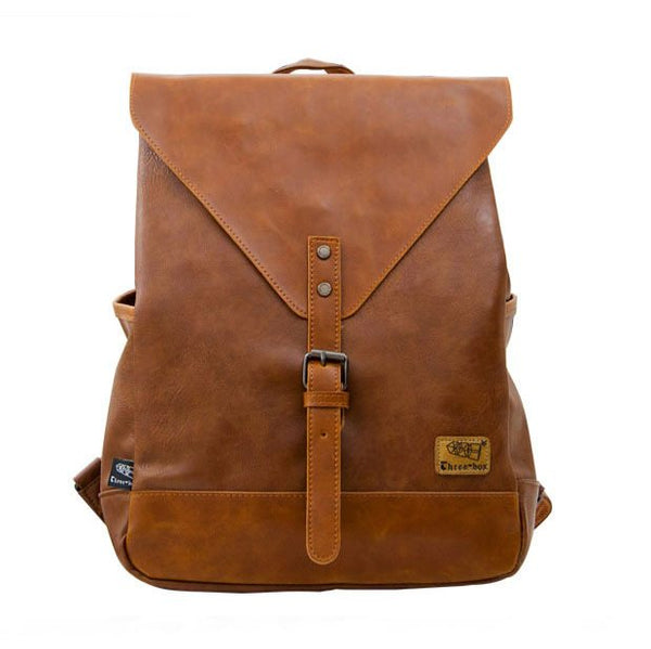 Pu Leather Satchel Backpack