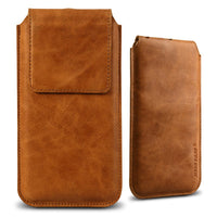 Slim Leather iPhone Case with Flap Magnet