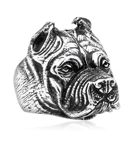 Stainless Steel Bulldog Ring