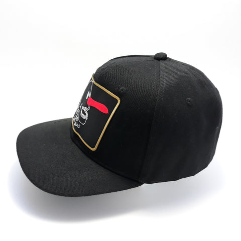 6 PANELS KIDS JAWS CAP - BLACK-BLACK