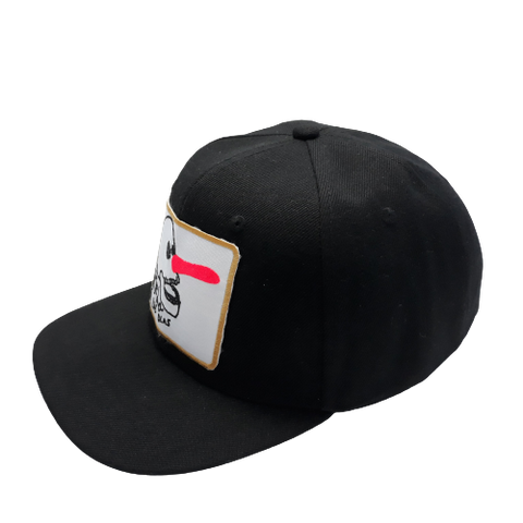 6 PANELS JAWS CAP - BLACK-WHITE