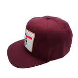 6 PANELS JAWS CAP - BURGUNDY-WHITE