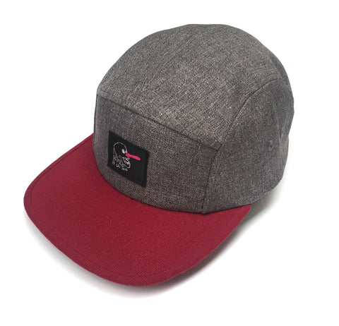 WINKI  CAP - GREY-BURGUNDY