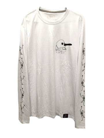 B.O.N.E.S. LONG SLEEVE TEE - WHITE